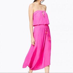 Ramy Brook bright pink maxi